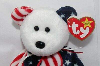 Ty Beanie Babies  *Spangle* Retired 6-14-1999 Tush tag 1999  white face