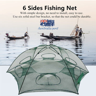 Hand-casting Automatic Fishing Net Trap Shrimp Cage Folding Network 6 Hole BTF