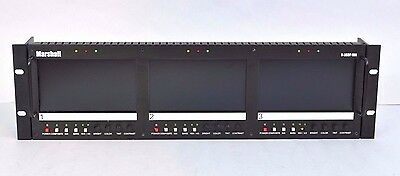 "Marshall V-R63P-SDI Triple 5.8"" Wide Rack Mount Video LCD Monitor Panel"