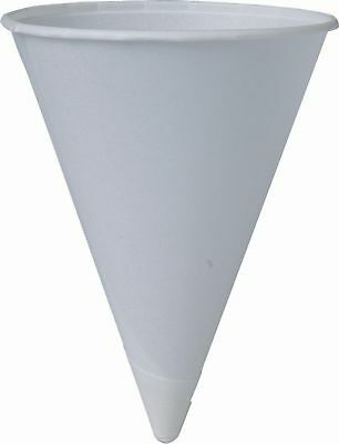 SOLO 200 Piece Cup Company Cone Water Cups Cold Paper White 4 oz.