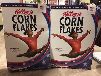Simone Biles 2016 Rio Olympic Gold Medalist Gymnast Limited Edition Cereal Box