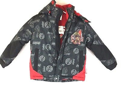 Marvel Avengers Boys Puffer Winter Coat Jacket Size 5/6 or Size 7 Age of Ultron