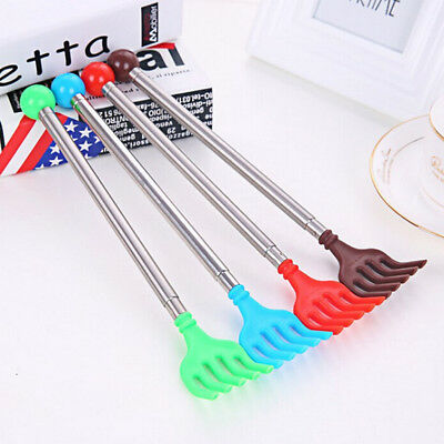 Portable Stainless Steel Telescopic  Back Scratcher Cool Itch Scratch、New