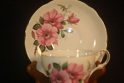 Regency PInk Rose Cup and Saucer
