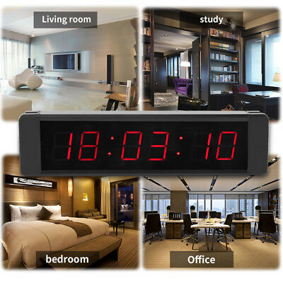 Programmable Remote Crossfit Interval Timer Wall Clock for Fitness Training gd