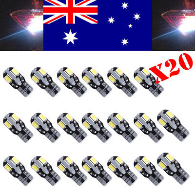 20x CANBUS T10 Wedge 8 SMD Parker Number Plate LED Bulbs W5W 194 168  WHITE