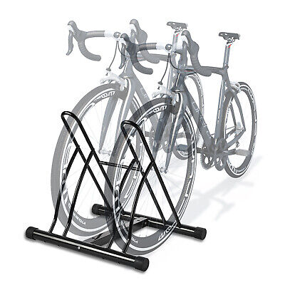 New Two Bicycle Bike Stand Garage Floor Storage Organizer Cycling Rack  sc 1 st  PicClick & NEW TWO BICYCLE Bike Stand Garage Floor Storage Organizer Cycling ...