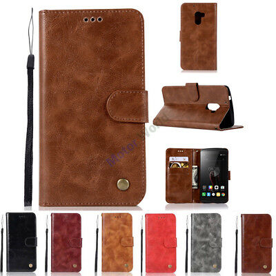 For Lenovo Vibe P1 / P2 Flip PU Leather Wallet Card Slots Stand Phone Case Cover