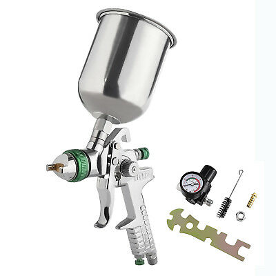 2.5mm HVLP Gravity Spray Gun Kit with Auto Paint Primer Metal Flake