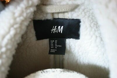 H&M  Shearling look Moto Jacket US 12 EU 42 Excellent LAST ONE@this price