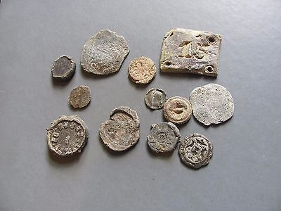 Lot of Medieval lead artifacts from France/Spain/UK 1500-1800AD 300 grams