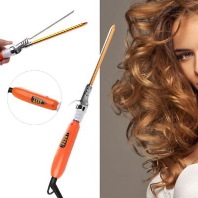 9mm 360° Rotating Electric Hair Salon Curler Tool Ceramic Curling Iron Wand new