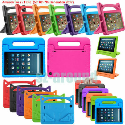 Kids Shockproof EVA Handle Case Cover For Amazon Kindle Fire 7 HD8 2017 tablet