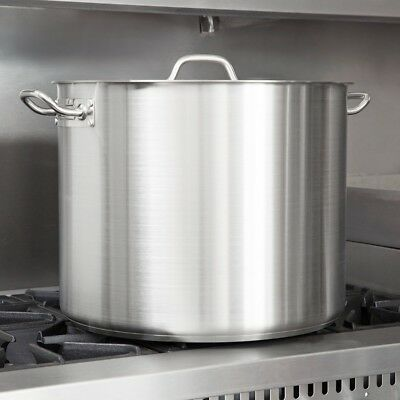 Stainless Steel Large Stock Pot Heavy Duty Restaurant Soup Pot With Lid 60 Qt.