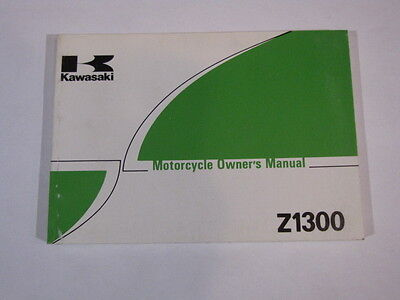 Kawasaki Z1300 Z1300-A3  Owners Owner Owner's Manual