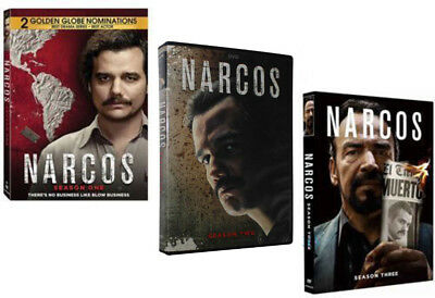 Narcos: The Complete Series Seasons 1-3 (DVD, 2017, 11-Disc Box Set) 1 2 3 New
