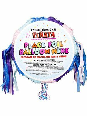 Pastel Coloured Blank Pull Pinata - 48cm - Childrens Party Games - Birthday Game