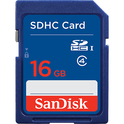 Genuine SanDisk16GB SD Card SDHC Memory Card Class 4 GB for Digital Cameras