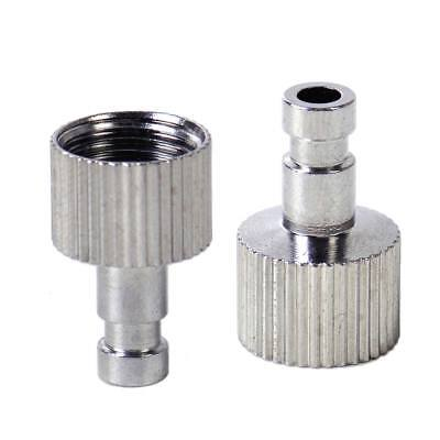 """2Pcs 1/8"""" Airbrush Quick Disconnect Coupler Hose Connector Release Adapter"""