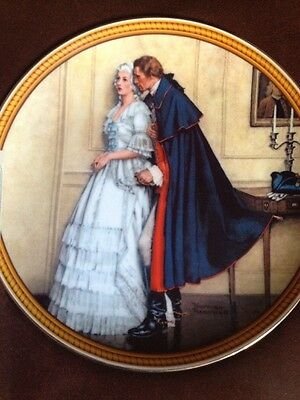 Norman Rockwell The Unexpected Proposal Edwin Knowles Plate 1st Edition COA