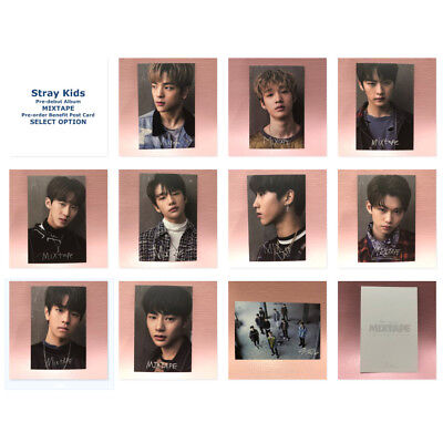 STRAY KIDS 스트레이키즈 Official Pre-Order Benefit Post Card MIXTAPE Photo Card SELECT