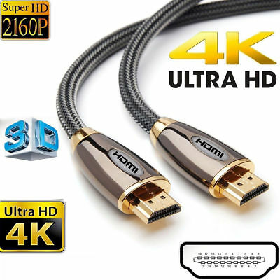 Premium HDMI Cable v2.0 High Speed 3D 4K Ultra HD 2160p High Quality Video Lead