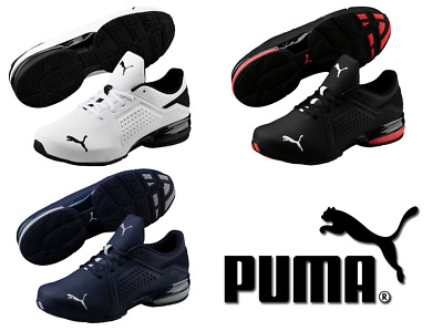 puma viz runner sneakers turnschuhe laufschuhe 191037 002 schwarz rot neu eur 69 95 picclick de. Black Bedroom Furniture Sets. Home Design Ideas