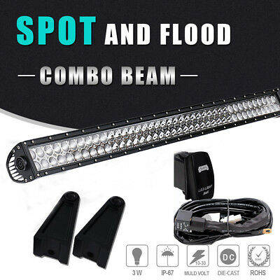 "40"" Straight Led Light Bar+Wiring Truck Dodge Ram 1500 Cruiser WV UTV SxS Can Am"