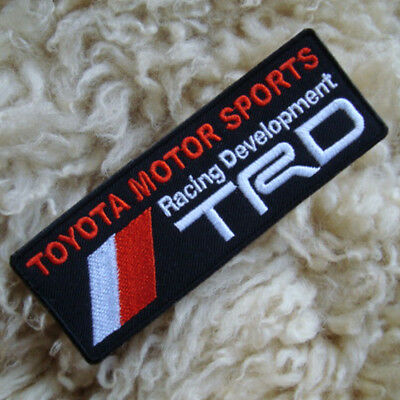 4.5/8x1P. TRD TOYOTA MOTOR SPORTS RACING DEVELOPMENT EMBROIDERED IRON ON PATCH