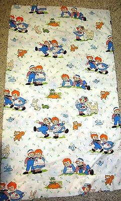 Vintage Raggedy Ann And Andy Material / Fabric Crafts