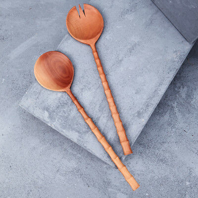 NEW Large recycled sapodilla wood salad servers Women's by Inartisan