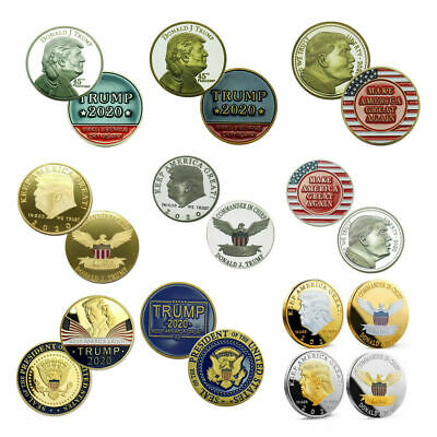 10x US President Donald Trump Make American Great Again Coins Collectible Gfit