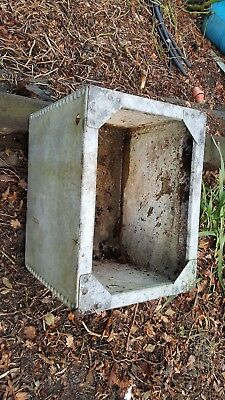 galvanised riveted water tank / plant pot