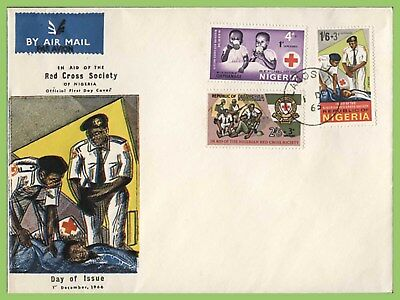 Nigeria 1966 Red Cross set on u/a First Day Cover
