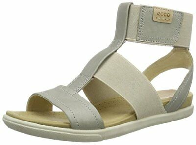 703ced002a7 ECCO DAMARA ELASTIC Ankle Strap Slip On Metallic Gladiator Sandal ...