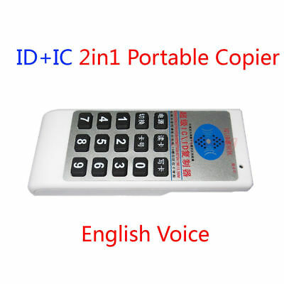 13.56MHz/125Khz T5577/UID Chip Double Frequency Writer Copier Duplicator+10 Fobs