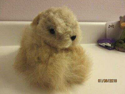 Alpaca fur rabbit/ bunny stuffed animal - real alpaca fur