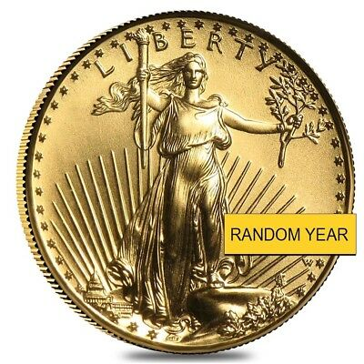1/10 oz Burnished Gold American Eagle In Cap (Random Year)