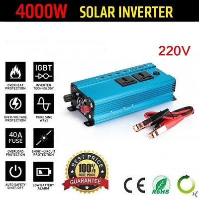 2000W-4000W Modified Sine Wave Power Inverter 12V DC 110V 220V AC Car Converter
