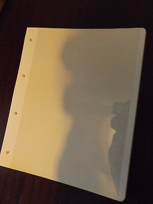 (Cp3) 20 X Cream 4 Ring Stamp Album Pages 2 Strip Forcovers/ Mini Sheets Etc