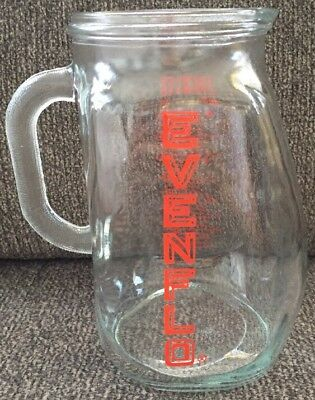 Vintage Evenflo Glass 1 qt 4 cup 32 oz Baby Formula Mixing Measuring Pitcher