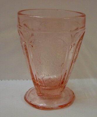 Jeannette Glass CHERRY BLOSSOM (PINK) 8 Oz Tumbler SCALLOPED FOOT More Available