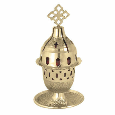 Greek Russian Christian Orthodox Brass Table Vigil Oil Lamp Prayer Corner New!