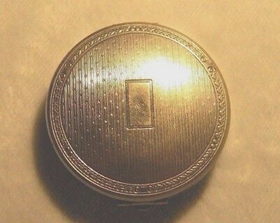 Vintage 1930's 40s Art Deco Richard Hudnut Ladies Compact Makeup Sterling Silver