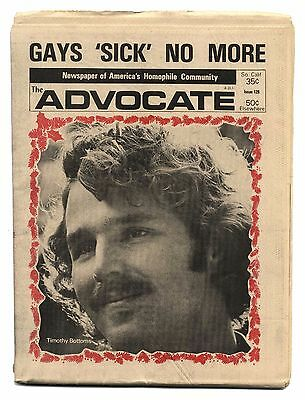 THE ADVOCATE No 128 January 2, 1974 Gay interest magazine GAYS SICK NO MORE!