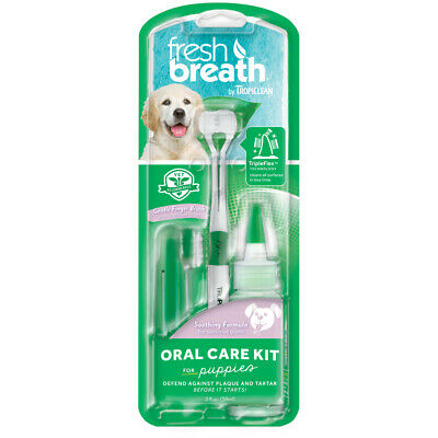 Tropiclean Fresh Breath Oral Care Kit For Puppies (2ounce) Dog