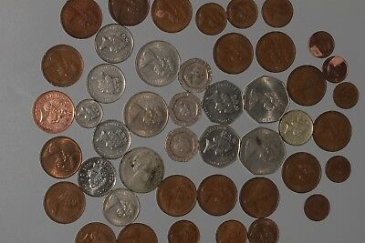Lot of 50 Coins Great Britain UK New Pence Mixed Dates LONDON HERE I COME!