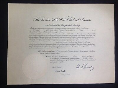 John F. Kennedy (35Th President) Appointment Document Signed As President