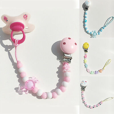Baby Newborn Girls Boys Pacifier Clip Chain Strap Dummy Soother Nipple Holder FA