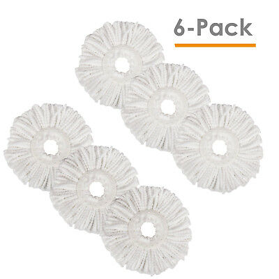 Lot of 6 Replacement Microfiber Mop Head Refill For Magic Mop 360° Spin Mophead